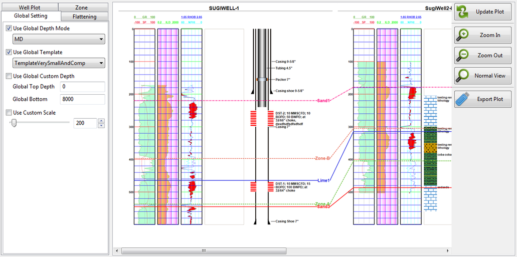 LogView++ Cross Section